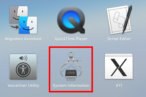 Mac System Information Icon