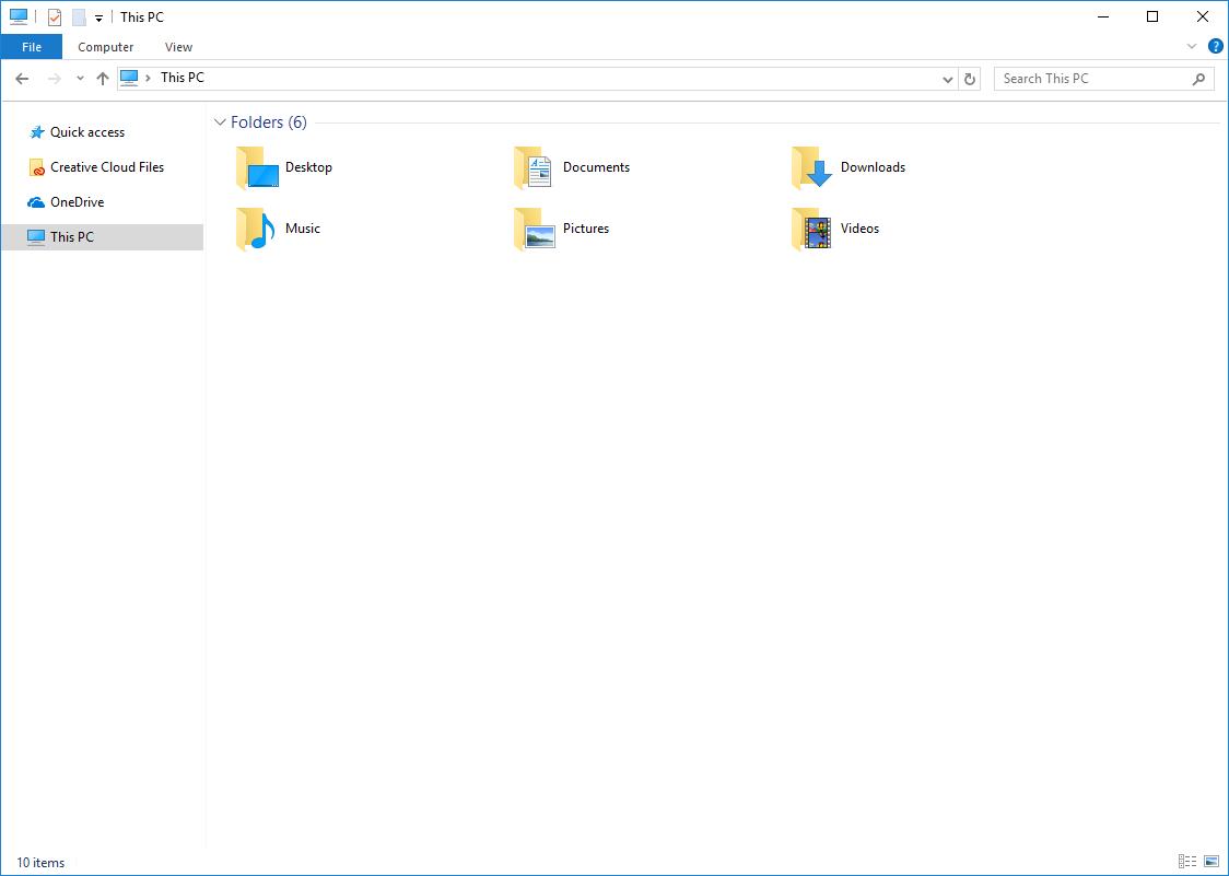 Windows 10 File Explorer window
